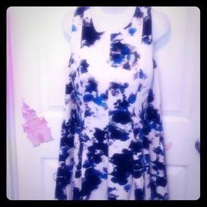 2823fc7fd21 Ivanka Trump Dresses - A-line impressionist print 16w plus size dress.